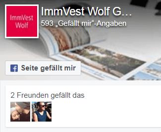 ImmVest Wolf auf Facebook
